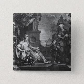 Moses brought to Pharoah's Daughter, c.1752 Pinback Button