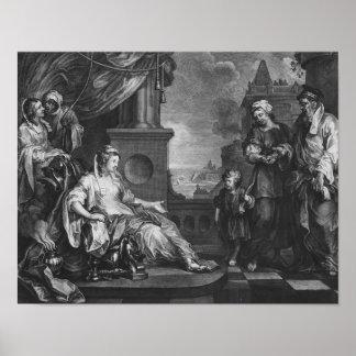 Moses brought to Pharoah's Daughter, c.1752 Poster