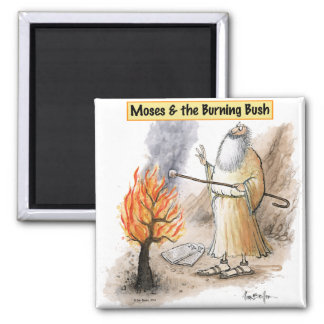 Moses Burning Bush Marshmallow Magnet