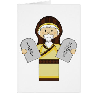 Moses Character Biblical Greeting Card