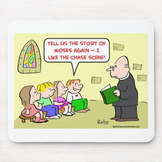 moses chase scene sunday school mouse pad