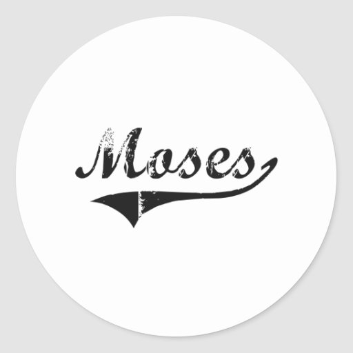 Moses Classic Style Name Round Stickers