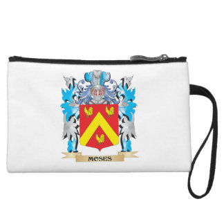 Moses Coat of Arms - Family Crest Wristlet Clutches