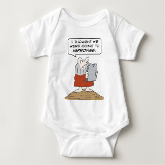 moses commandment improvise baby bodysuit