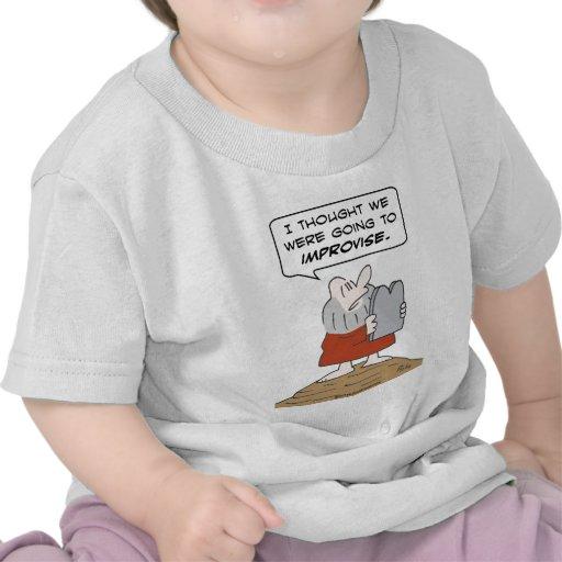 moses commandment improvise tshirt