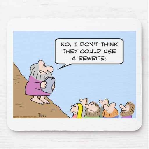 moses commandments could use rewrite mouse pad