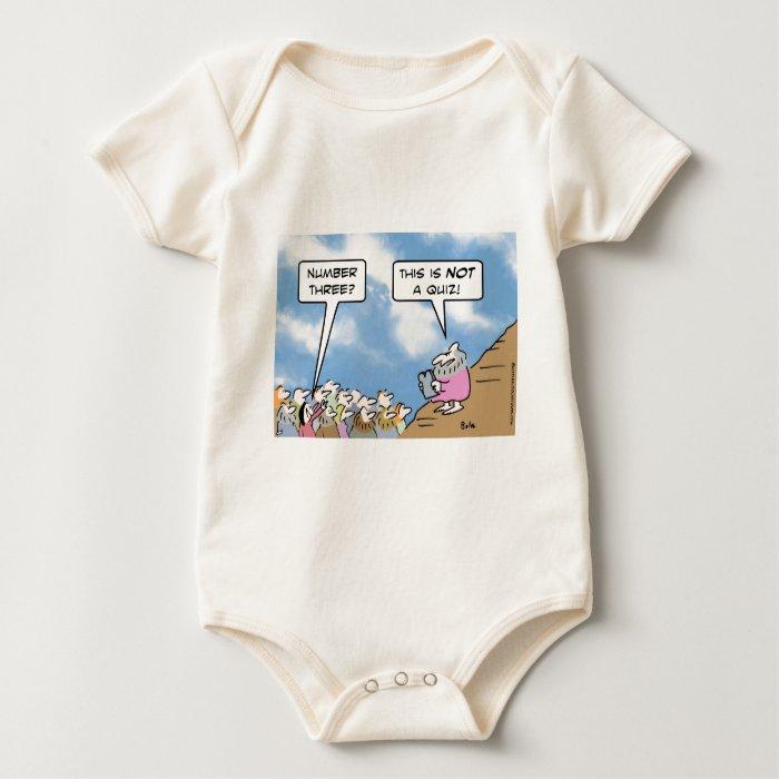 moses commandments religion quiz baby bodysuit