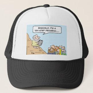 moses commandments ten step program trucker hat