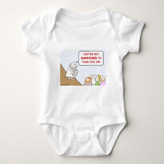 moses commandments turn on baby bodysuit