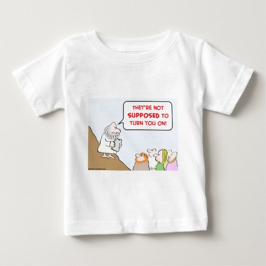 moses commandments turn on baby T-Shirt