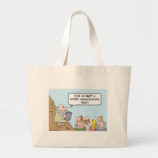 moses commandments word association canvas bags
