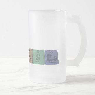 Moses como einsteinio del azufre del molibdeno taza de cristal