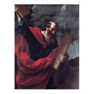 Moses con las tabletas de la ley postal