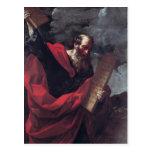 Moses con las tabletas de la ley tarjetas postales