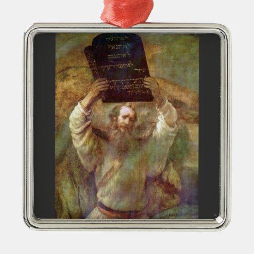 Moses con los mandamientos de Rembrandt Ornamentos De Reyes Magos