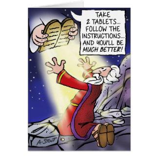 """¡Moses… consigue """"mejor""""! Tarjeta De Felicitación"""