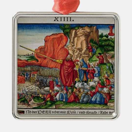 Moses crossing the Red Sea Metal Ornament