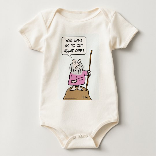 moses cut what off god circumcision baby bodysuit