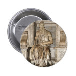 Moses de Miguel Ángel, Roma Pin Redondo 5 Cm
