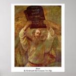 Moses de Rembrandt Harmenszoon Van Rijn Impresiones