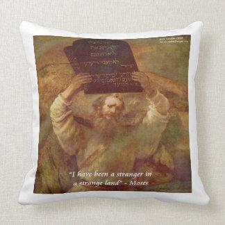 Moses de Rembrandt y algodón grande ThrowPillow de Cojin