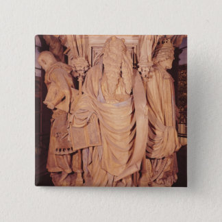 Moses, detail from the hexagonal pedestal pinback button