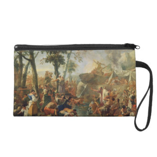 Moses Drawing Water from the Rock (oil on canvas) Wristlet Purses