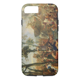 Moses Drawing Water from the Rock (oil on canvas) iPhone 7 Case