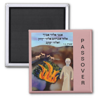 Moses en el imán del Passover de la zarza ardiente