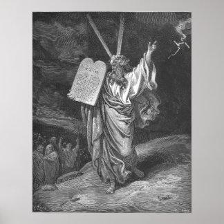 Moses en monte Sinaí Póster
