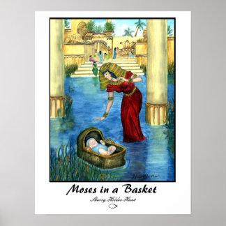 Moses en una impresión de la cesta - modificada pa póster