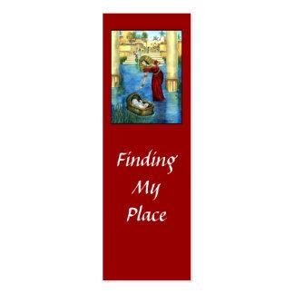 Moses en una señal de la cesta tarjetas de visita mini