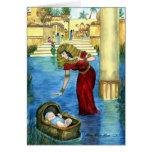 Moses en una tarjeta de la cesta