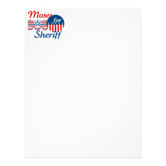 Moses for Sheriff Letterhead