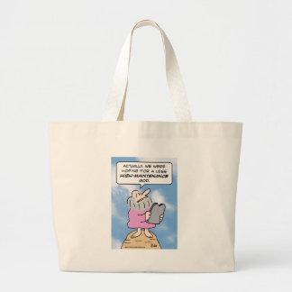 moses high maintenance god commandments canvas bags