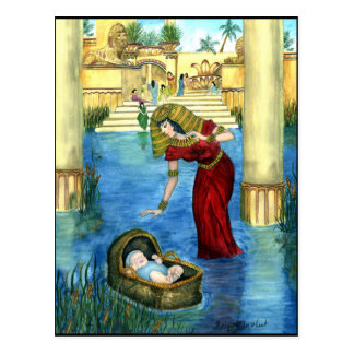 Moses in a Basket Postcard