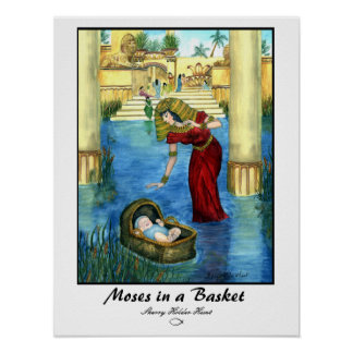 Moses in a Basket Print - Customized