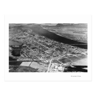 Moses Lake WA Aerial View of Town Photograph Postcard