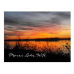 Moses Lake, WA sunset post card