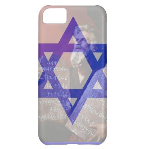 Moses, las tabletas y la estrella de David Funda Para iPhone 5C