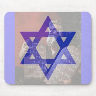 Moses, las tabletas y la estrella de David Mouse Pad