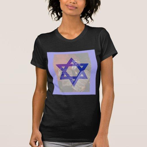 Moses, las tabletas y la estrella de David Camisetas