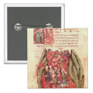 Moses leads the Children of Israel across Pinback Button
