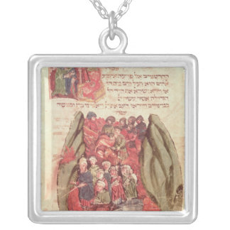 Moses leads the Children of Israel across Silver Plated Necklace