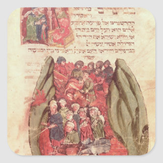 Moses leads the Children of Israel across Square Sticker