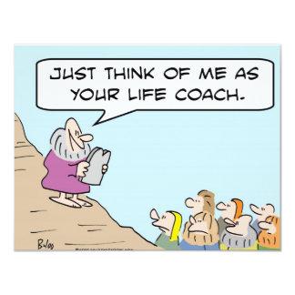 """moses life coach 4.25"""" x 5.5"""" invitation card"""