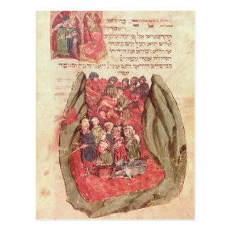 Moses lleva a los niños de Israel a través Postal