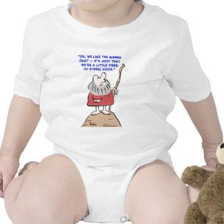 moses, manna, ethnic, food t-shirt