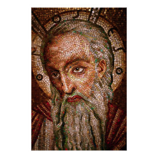 Moses Mosaic in the Cathedral Basilica of St Louis Poster