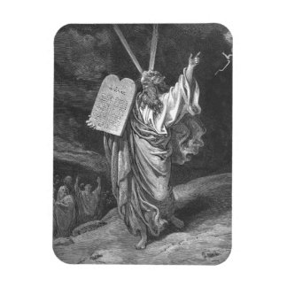 Moses on Mount Sinai Vinyl Magnet
